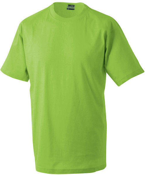 James & Nicholson T-skjorte Round-T Heavy, 100% bomull, Lime-Green