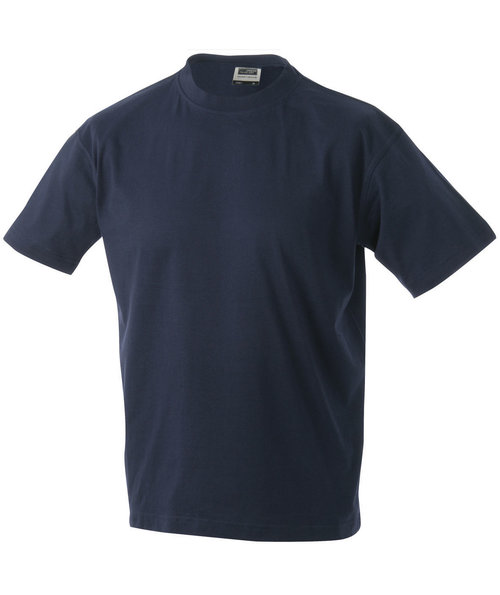 James & Nicholson T-shirt Round-T Heavy, 100% bomuld, Navy