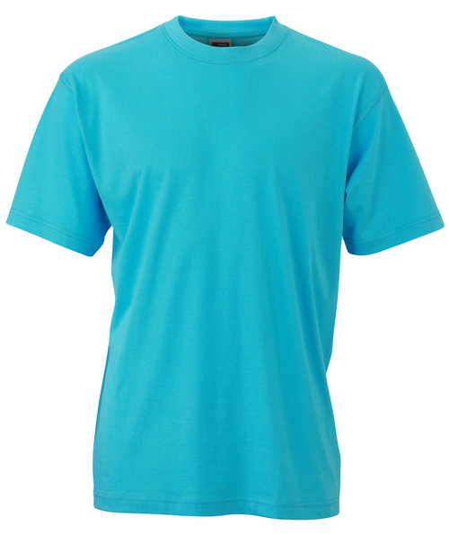 James & Nicholson T-shirt Round-T Heavy, 100% bomull, Pacific