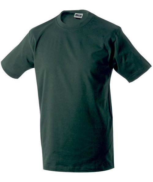 James & Nicholson T-skjorte Round-T Heavy, 100% bomull, Dark-Green