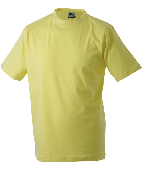 James & Nicholson T-skjorte Round-T Heavy, 100% bomull, Yellow