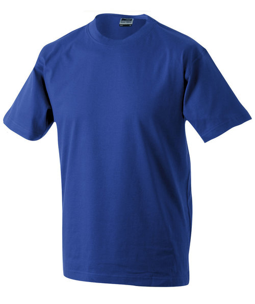 James & Nicholson T-skjorte Round-T Heavy, 100% bomull, Dark-Royal