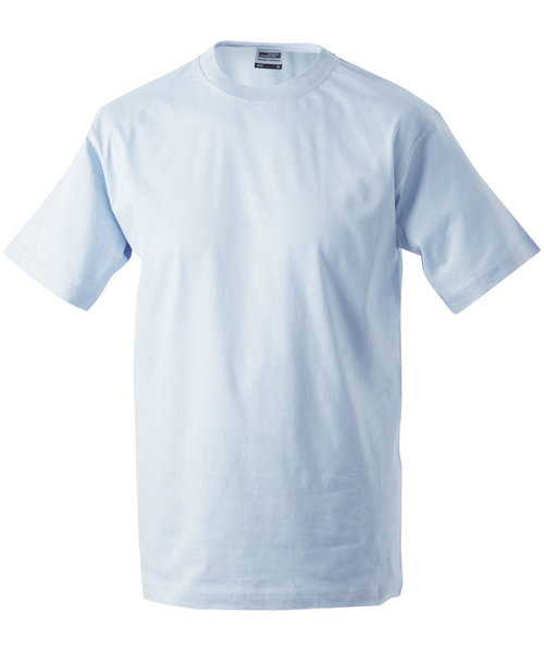 James & Nicholson T-skjorte Round-T Heavy, 100% bomull, Light-Blue
