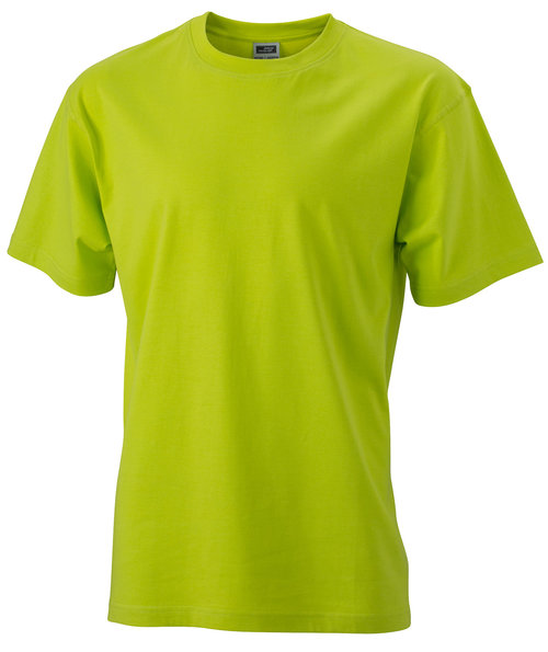 James & Nicholson T-skjorte Round-T Heavy, 100% bomull, Acid-Yellow