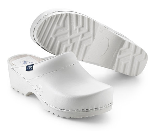 Sika Traditional clogs without heel cover, White