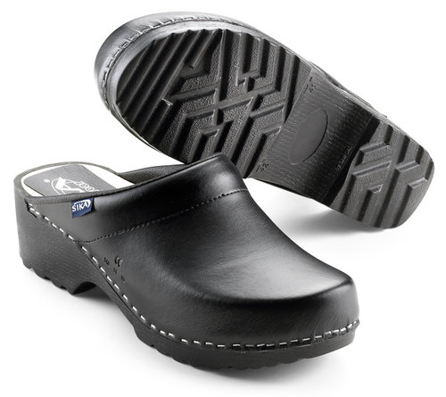 Sika Traditional clogs without heel cover, Black
