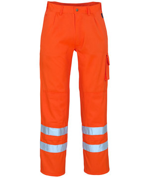 Mascot Iowa work trousers hi-vis, Hi-Vis Orange