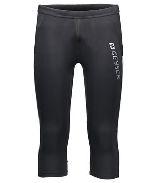 GEYSER løbetights knee unisex, Sort