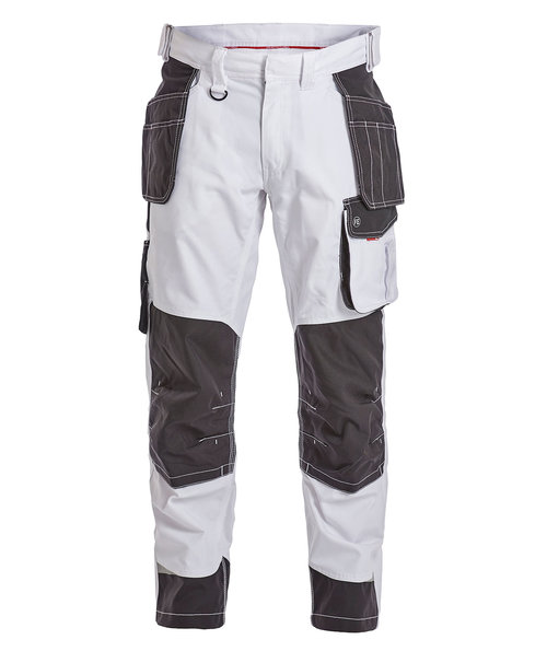 FE Engel Galaxy craftsmens trousers, White/Antracite