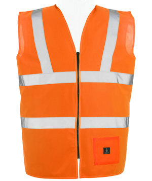 Mascot Lakewood safety vest, Hi-Vis Orange