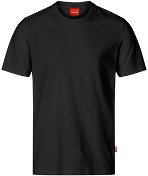 Kansas Apparel Light T-Shirt 100% Baumwolle, Schwarz