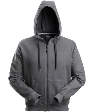 Snickers hoodie with zipper / cardigan, Charcoal