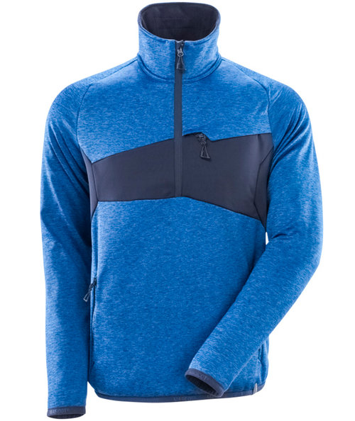Mascot Accelerate fleece pullover, Azure Blue/Dark Navy