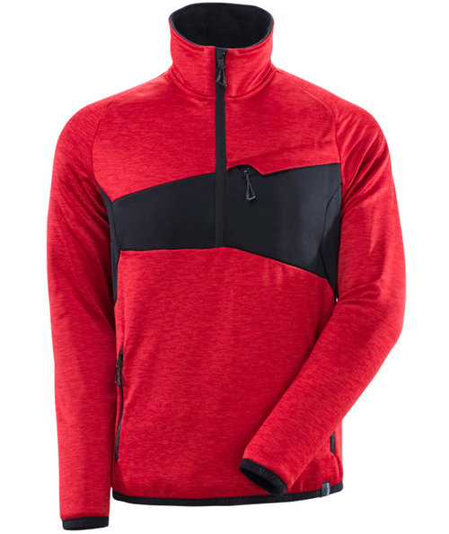 Mascot Accelerate fleece pullover, Traffic Red/Black