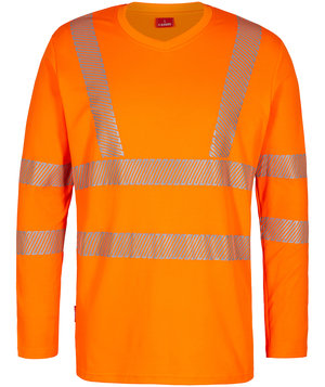 FE Engel Safety langærmet T-shirt, Orange