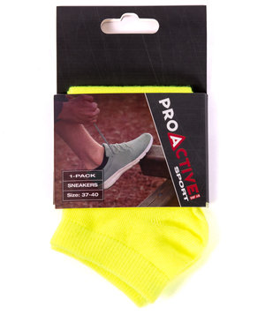 Proactive by JBS anklet socks, Yellow