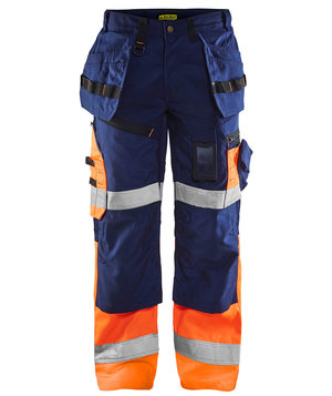 2nd quality product Blåkläder X1500 craftmens trousers, Marine/Hi Vis Orange