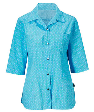Hejco 3/4 sleeved women's tunic, Turquoise