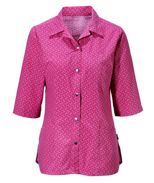 Hejco 3/4 sleeved women's tunic, Rosa