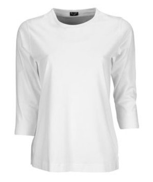 Jyden 3/4 sleeves T-shirt 100% cotton, White