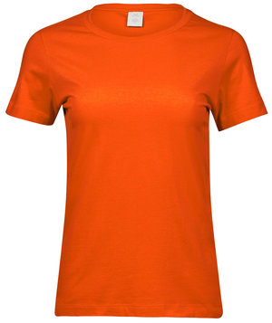 Tee Jays basic dame T-shirt, 100% bomuld, Orange