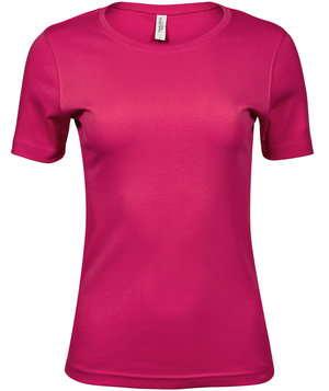 Tee Jays Interlock dame T-shirt, 100% bomuld, Pink
