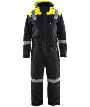 Blåkläder winter coverall, Black/Hi-Vis Yellow