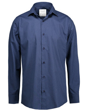 Seven Seas skjorta Virginia - Slim fit, Navy