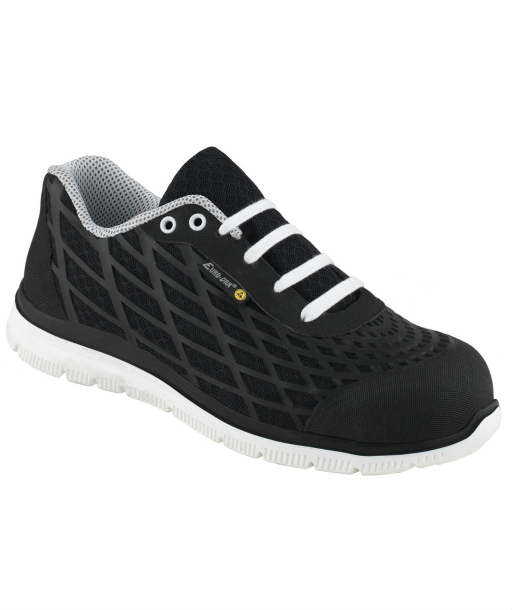 Euro-Dan Spider safety shoes S3, Black/White