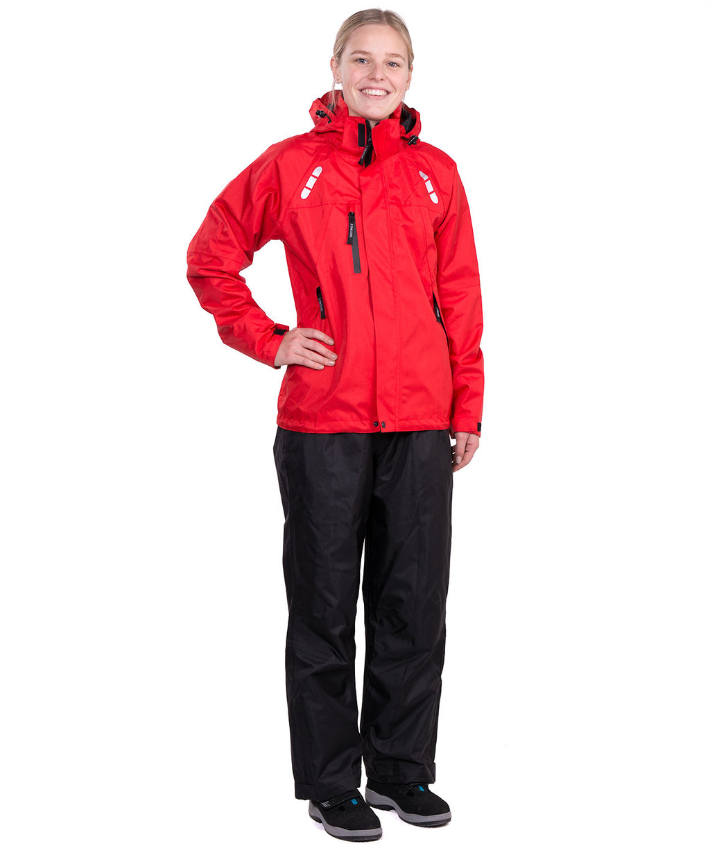 Lyngsoe women's rain clothes set FOX6088, Red/Black