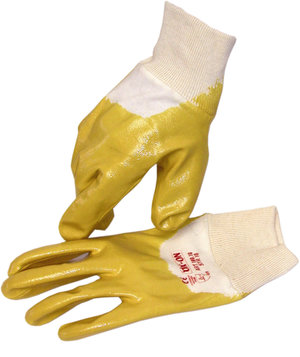 OX-ON NBR-Lite 3/4 dipped working gloves, Yellow
