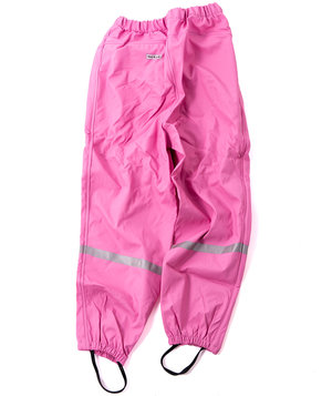 OCEAN rain trousers with reflective details for kids, Light Rose
