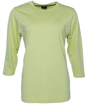 Jyden women's 3/4 sleeves T-shirt, cotton/polyester 180 grams, Kiwi