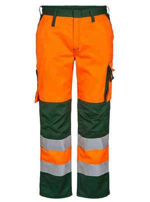 FE Engel Safety women's work trousers, Hi-vis Orange/Green