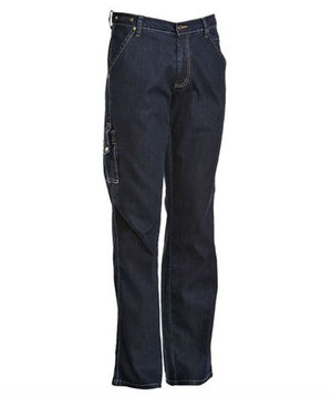 Nybo Workwear All-In-One trouser with patchpocket, Dark Denim Blue