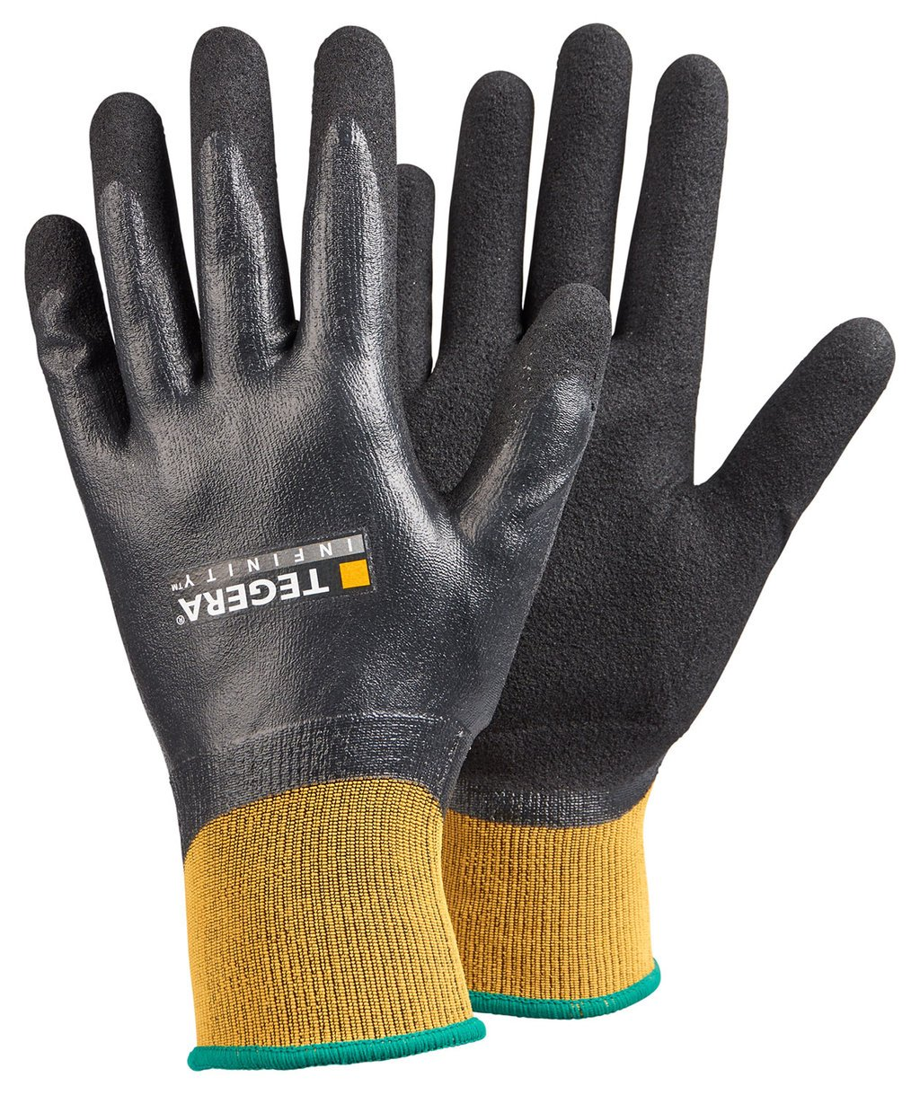 Tegera 8804 Infinity work gloves, water proof, Black/Yellow