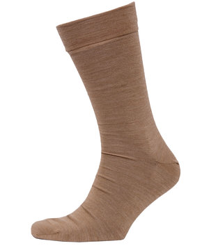 Claudio Highline double face strømper, Lys Beige