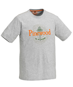 Pinewood Outdoor kids T-shirt, Grey Melange