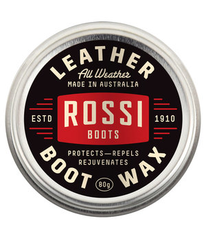 Rossi All Weather boot wax, 80g, Transparent