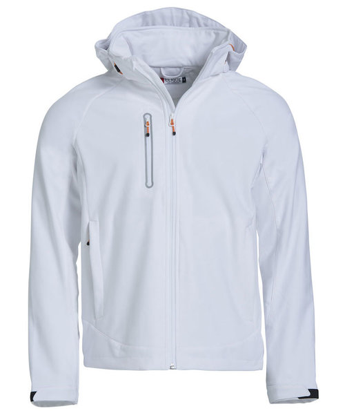 Clique Milford softshell jacket, White