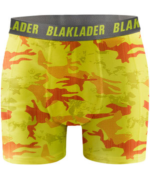 Blåkläder 2-Pack boxer shorts , Yellow/Grey