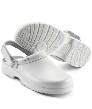 2nd quality Sika clog with heel strap, White