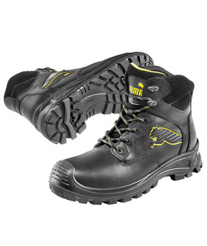 Puma Borneo Mid safety bootees S3, Black