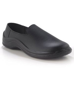 Codeor Slip-On loafer arbejdssko O1, Sort