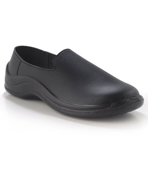 Codeor Slip-On loafer arbetsskor O1, Svart