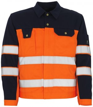 Mascot Como work jacket, Orange/Marine