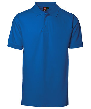 ID Pique Polo T-shirt m. stretch, Azurblå