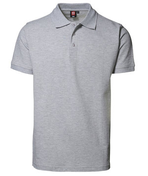 ID Pique Polo T-shirt m. stretch, Grå Melange