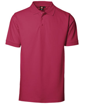 ID Pique Polo T-shirt m. stretch, Cerise