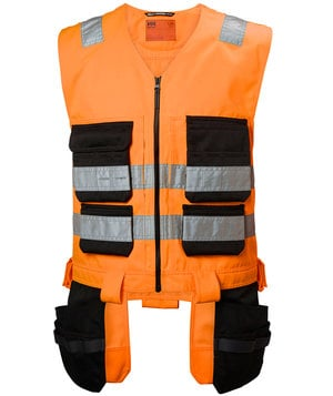 Helly Hansen WW Alna Werkzeugweste, Hi-Vis Orange/Charcoal
